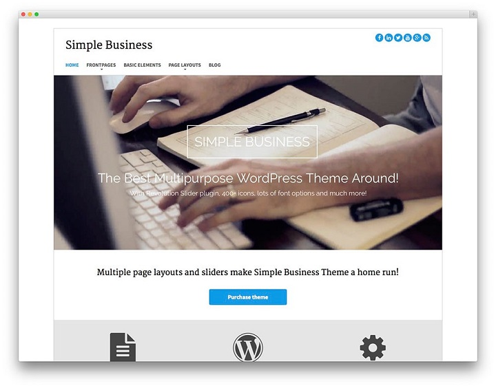 Simple Business Free WordPress Themes 2017